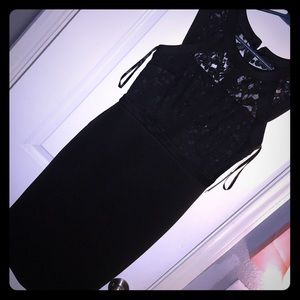 Black dress with beautiful lace detail